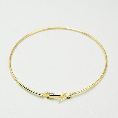 base orecchini cerchio colore oro (1 paio)