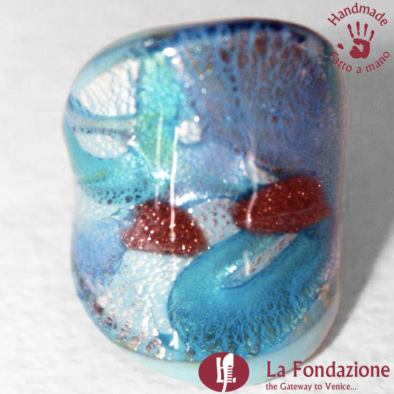 Petalo di Mare - Anello a Fascia in vetro di Murano