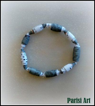 Bracciale elastico unisex con perle