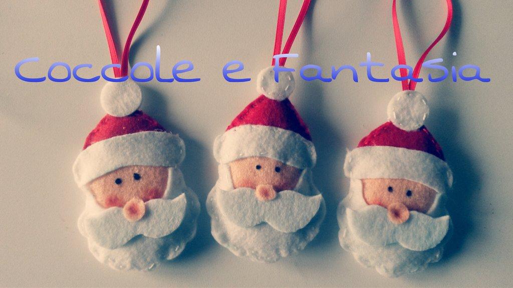 Decorazioni Natalizie Babbo Natale In Pannolenci Feste Natale