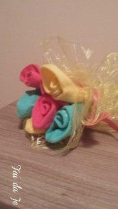Mini bouquet di fiori per neonato