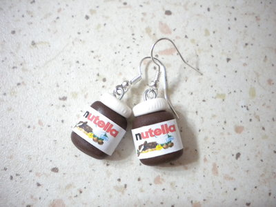 Orecchini con ciondoli fimo nutella earrings handmade
