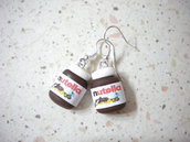 Orecchini con ciondoli fimo nutella earrings handmade