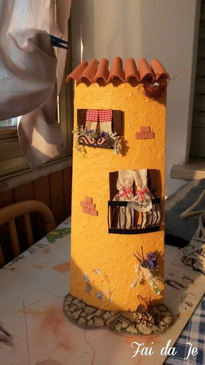 Tegola decorata stile campagna
