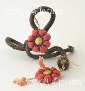 Orecchini Flower - T06 - Rosa Antico/Oro