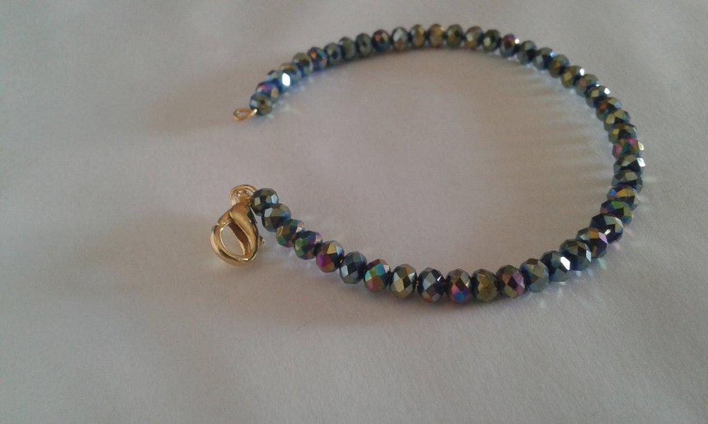 Bracciale donna perline multicolore e luminose