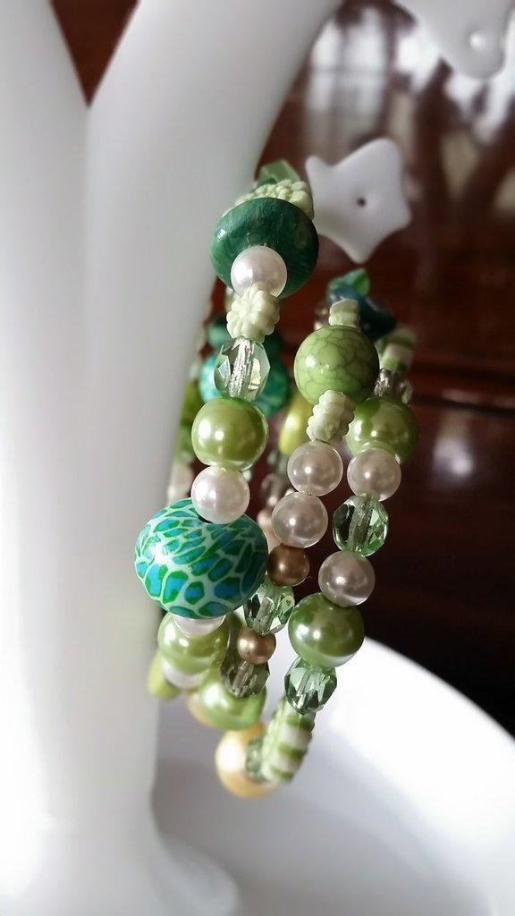 Bracciale in memory 3giri di perle