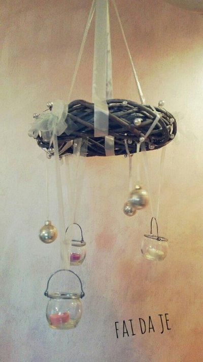 Ghirlanda a sospensione dal soffitto con porta lume - Portapentole da soffitto ...