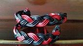 Bracciale wire rosso nero