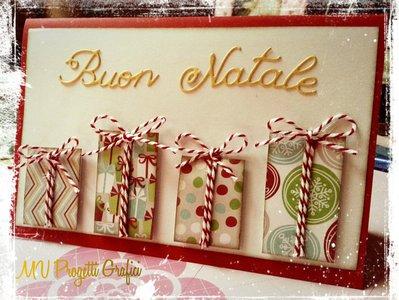 """CARD NATALIZIA """"PACCHETTI DI NATALE"""""""