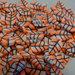 130 Fettine FOGLIA ARANCIONE da Polymer Clay Canes