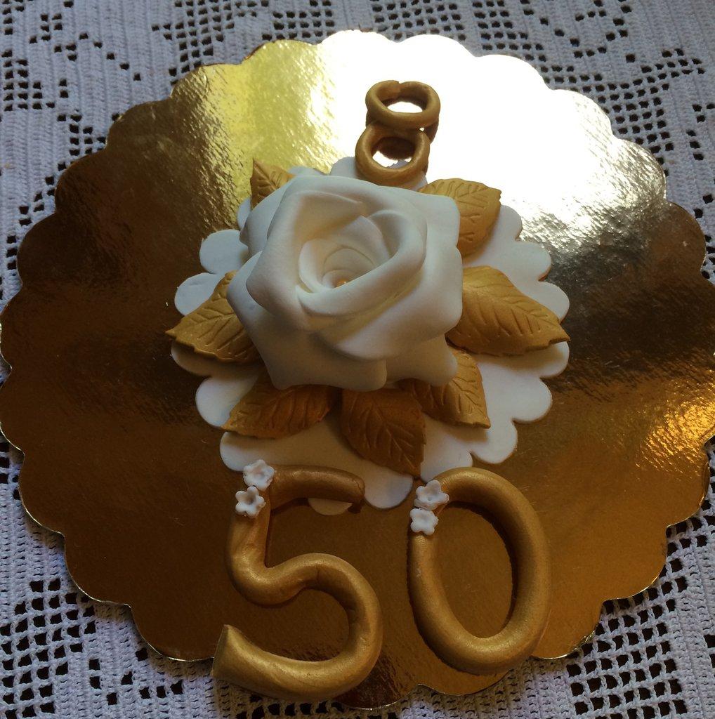 Set nozze d'oro in pasta di zucchero