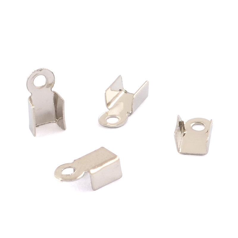 100 pz capicorda terminale in ottone argento