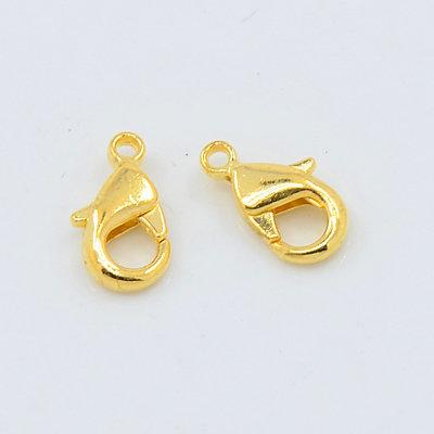 25 pz chiusure moschettone in ottone oro