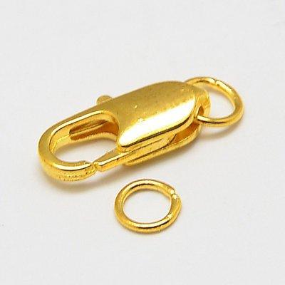 20 pz chiusura moschettone in ottone colore oro