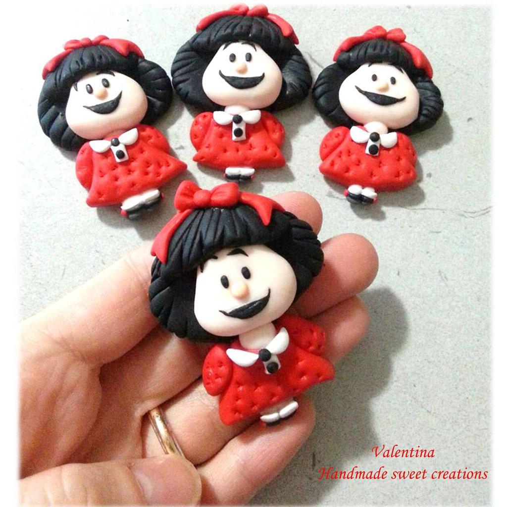 Collana con ciondolo Mafalda