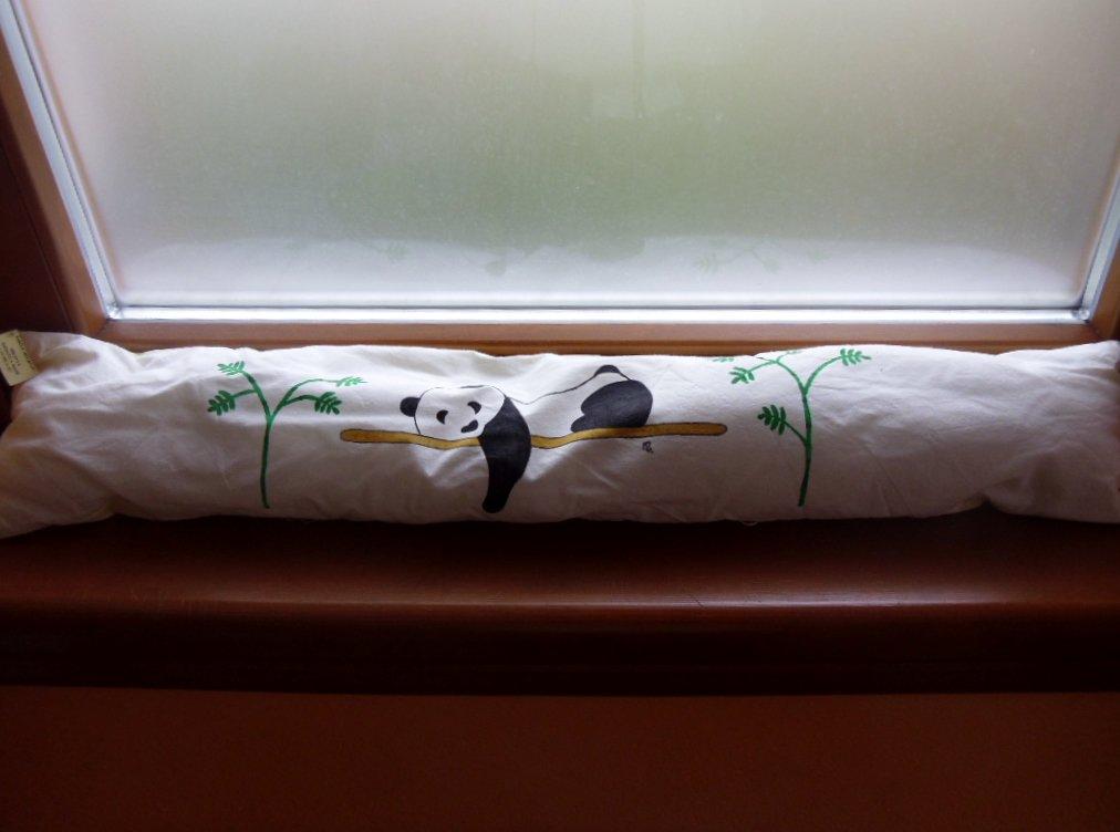 "paraspiffero in tessuto ""panda"""