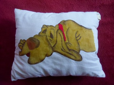 """cuscino dipinto """"cane"""""""