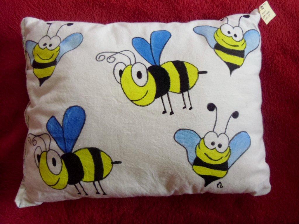 "cuscino dipinto ""api"""
