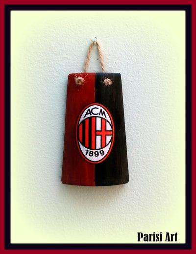 Tegola decorata tifoso Milan