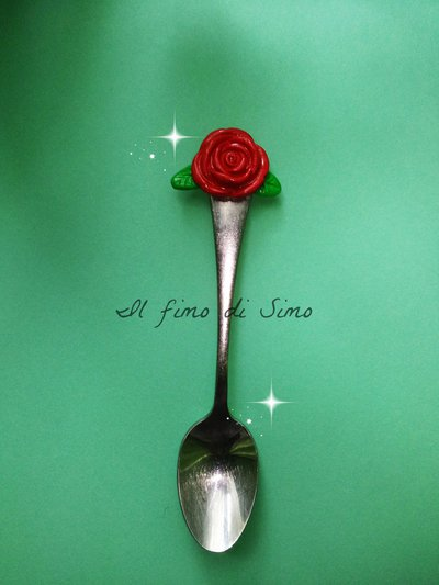 bomboniera cucchiaino decorato in fimo