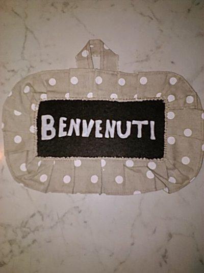Targhe Benvenuti / Welcome