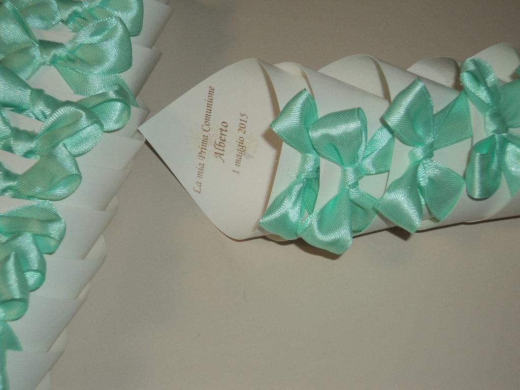 Coni confettata confetti battesimo comunione cresima personalizzabili