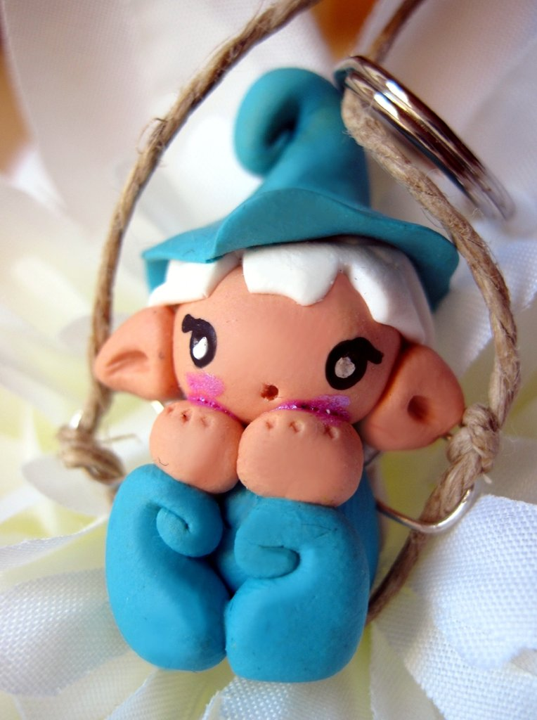 Gnometti dell'arcobaleno - Rainbow gnomes keychain
