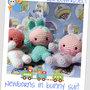 Newborns in bunny suit amigurumi pdf schema english/italiano