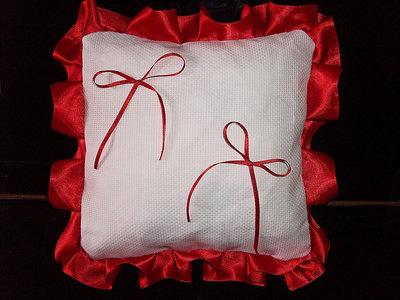Cuscino fedi quadrato cuscinetto portafedi fedi volant raso da ricamare matrimonio
