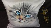 Cuscino sguardo gatto