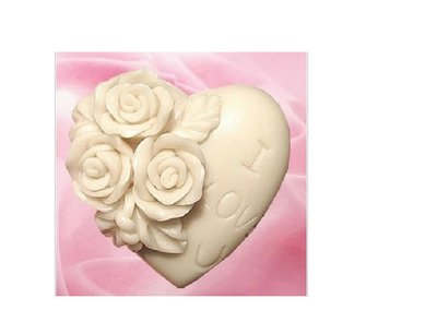 Gessetti profumati a forma di cuore con fiore 25 pezzi