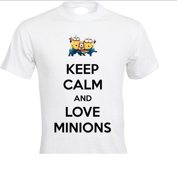 T SHIRT MINIONS KEEP CALM AND LOVE MINIONS