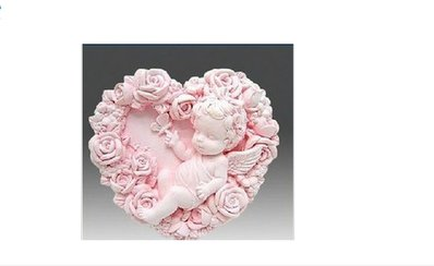 gessetti profumati a forma di cuore con angelo all interno 25 pezzi