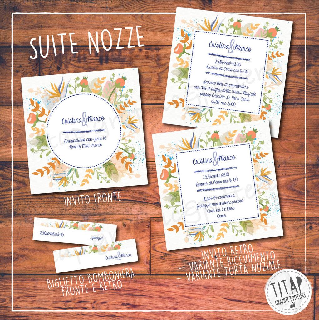 Partecipazioni Matrimonio Anni 70.Partecipazione Completa Di Nozze Hippie Floral Stampabile E