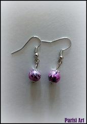 Orecchini pendenti con perle drawbench rosa