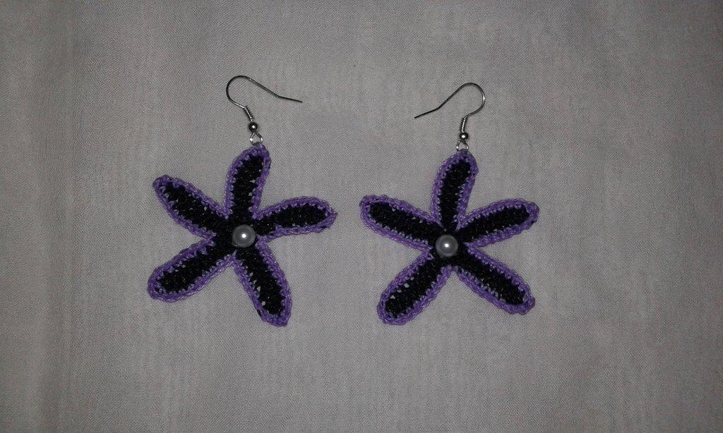 Orecchini stella marina lavorati a mano