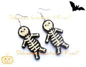 ★★SALDI★★ Orecchini omino di marzapane morto - biscotti scheletro -