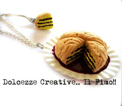 ☠ Collezione Halloween ☠ Collana cervello torta