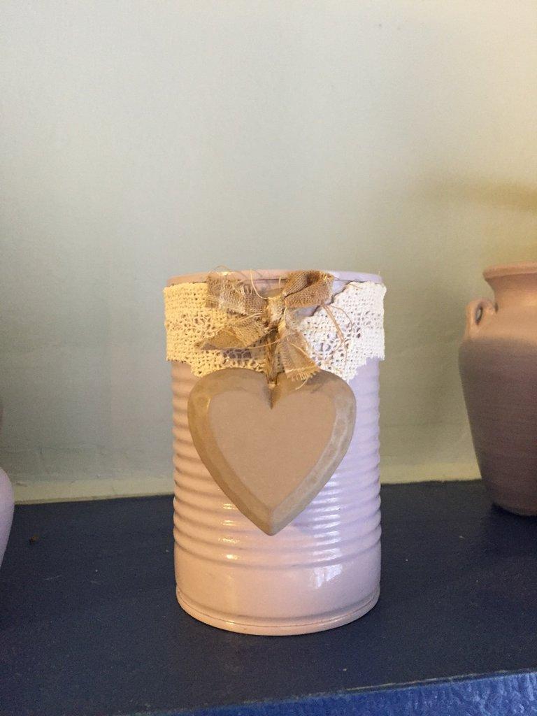 Preferenza Barattolo di latta decorato lilla shabby - Per la casa e per te  WZ68