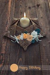 Centrotavola porta candela