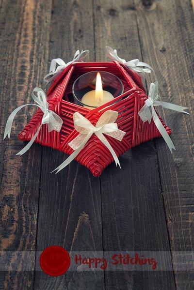 Porta candela rosso