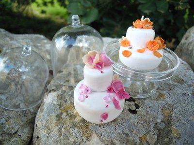 alzatina con coperchio mini 7, cm con mini cake nunziale ...