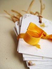 "Bigliettini perforati ""Petali di Fiori"" 10 pz-  Flower petals punched gift tag Set 10"