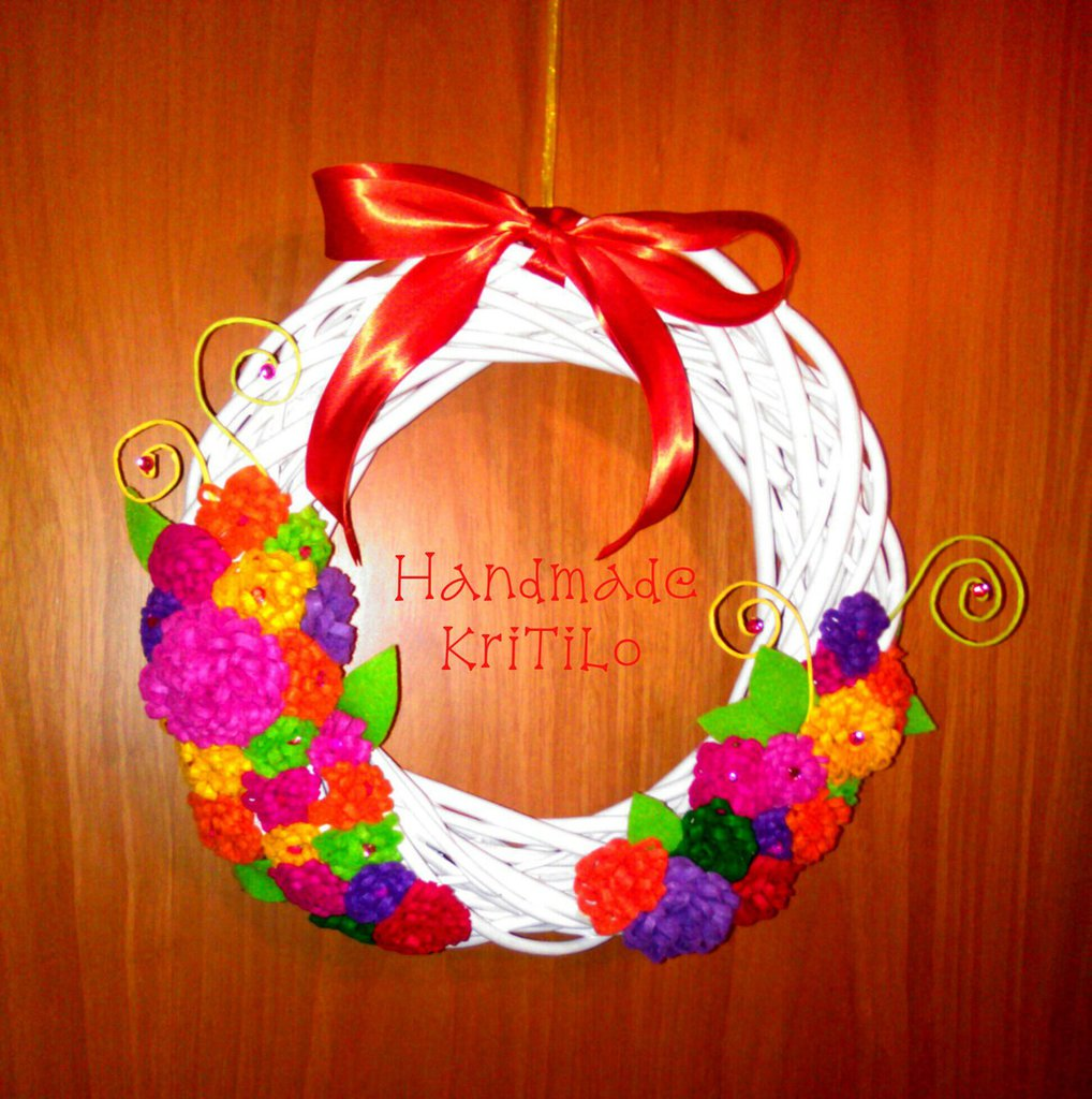 corona dietro porta Halloween Handmade KriTiLo