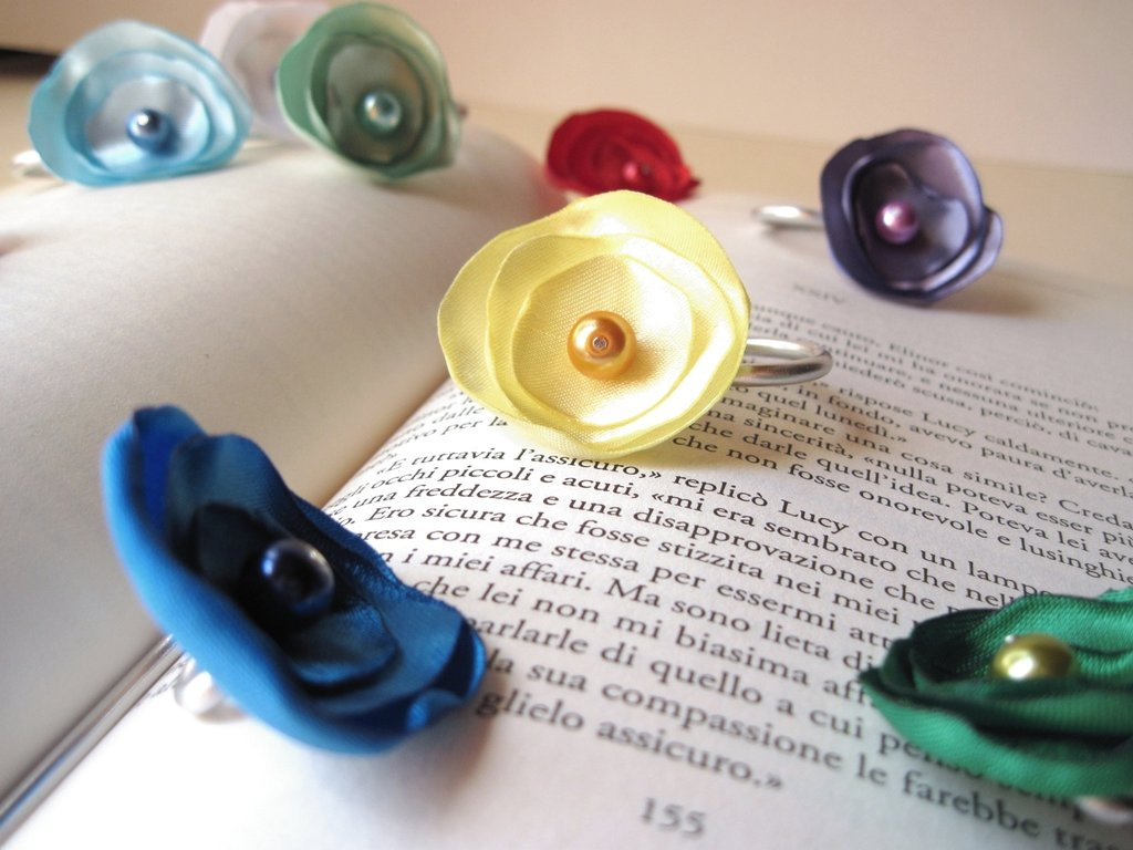 Segnalibro Arcobaleno di fiori - Flowers rainbow Bookmarks