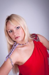 Collana da spalla con quarzo glicine e ovali in argento fatta a mano - necklace shoulder with wisteria and quartz oval handmade silver.