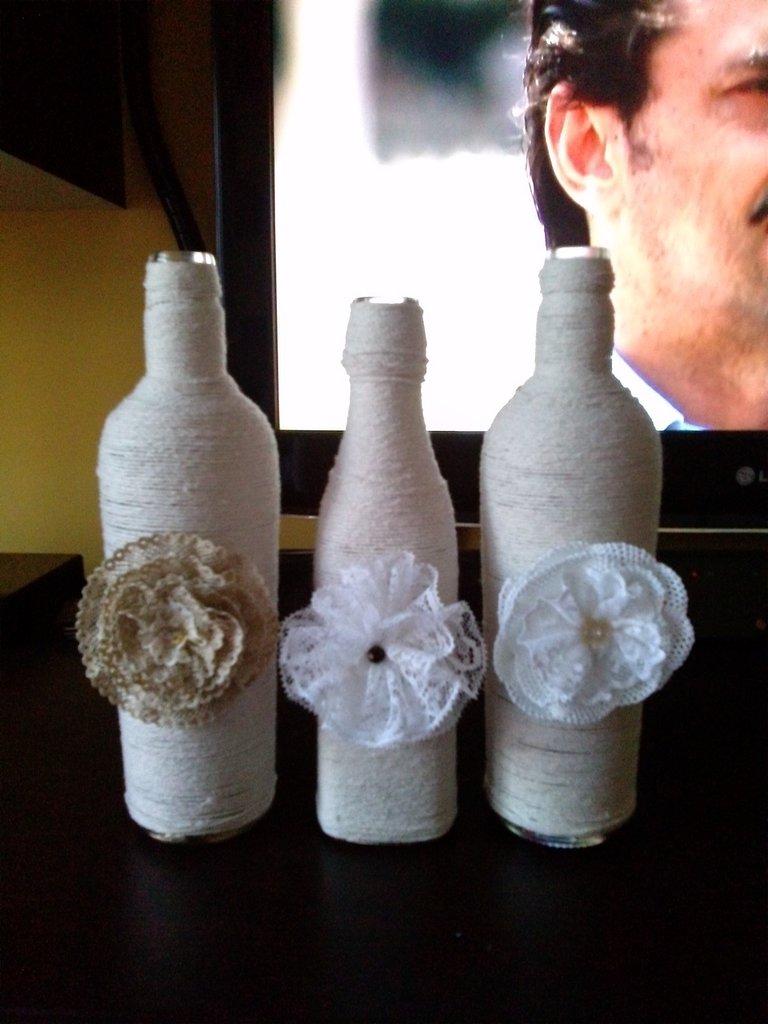 bottiglie decorate fai da te