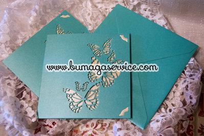 Partecipazione nozze farfalle
