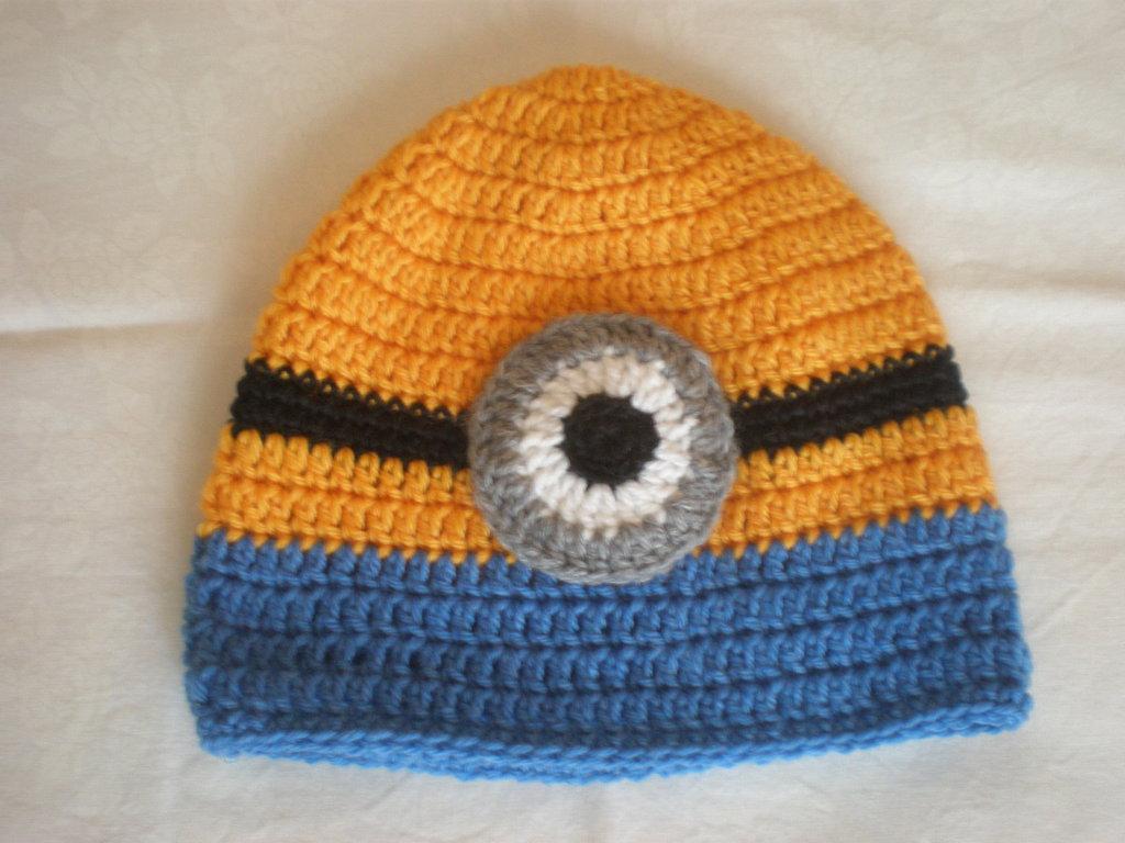 cappello lana minion